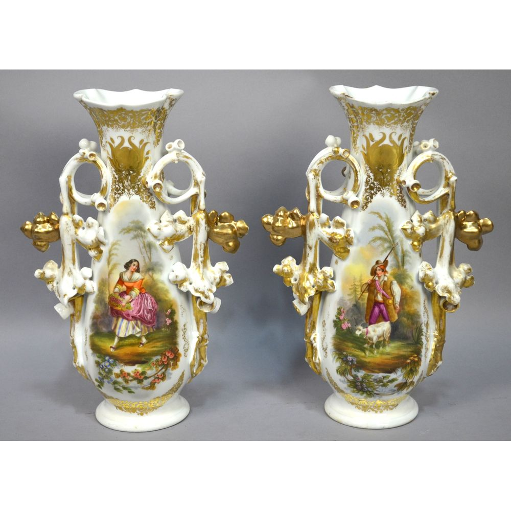Pair antique large hand painted french country scene old vieux 8086dsc0506resultg reviewsmspy