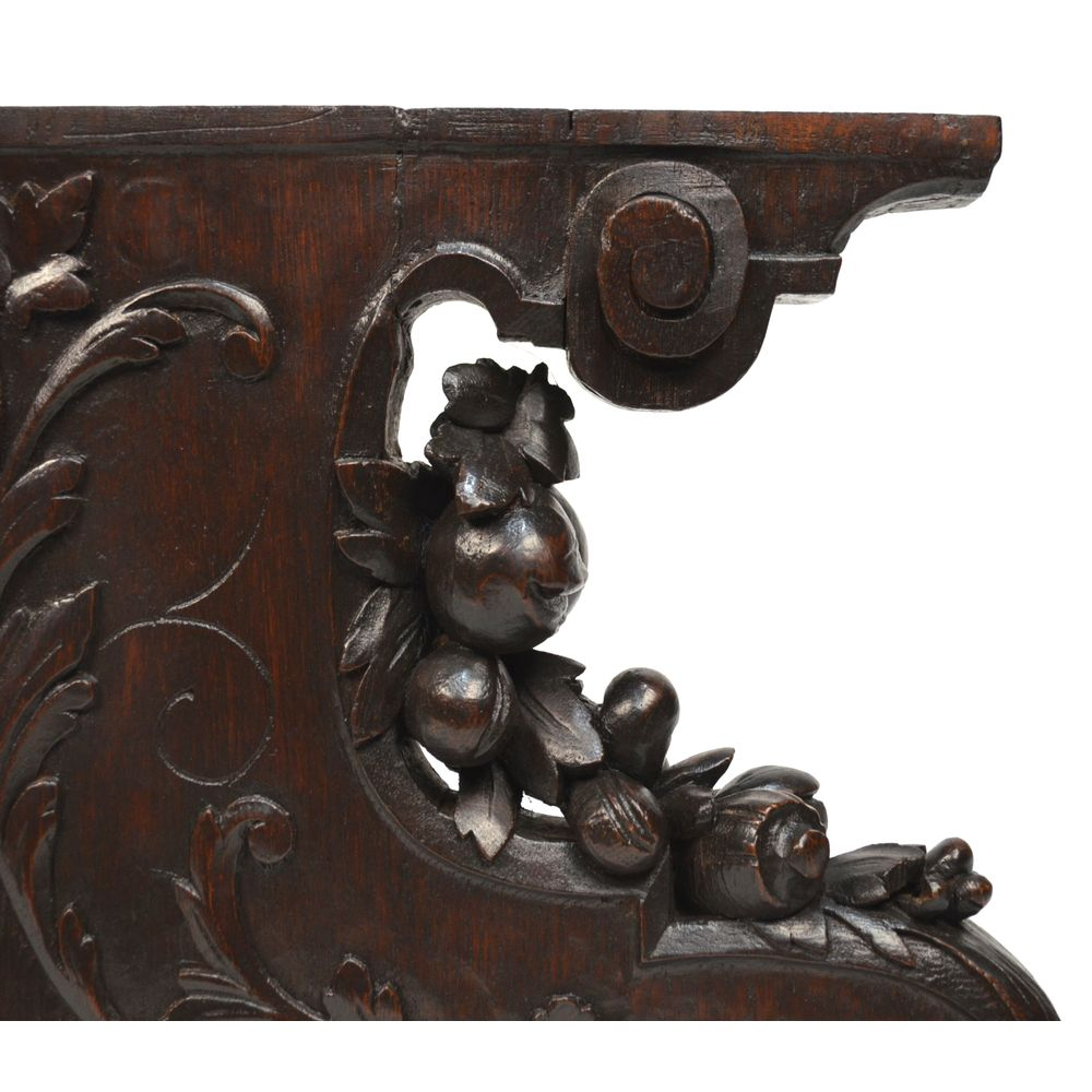 pair antique french carved oak architectural salvaged